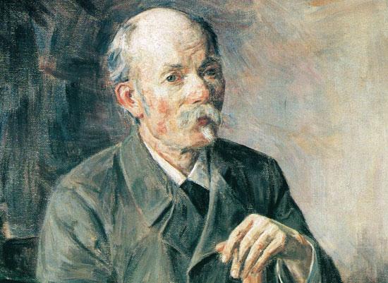 Portrett av Arne Garborg av Olav Rusti.