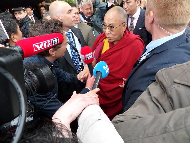 Dalai Lama på Oslo-vitjing. Foto: Sp